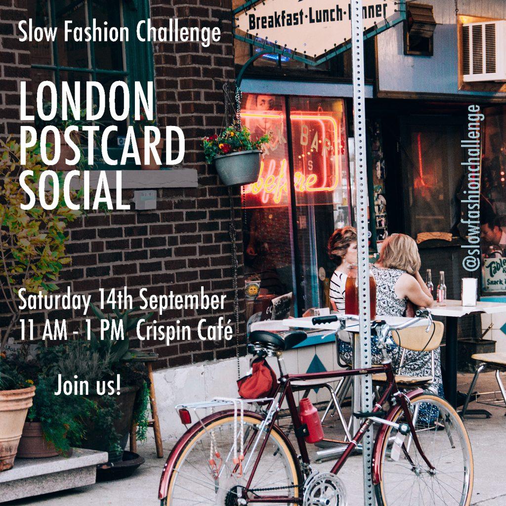 London Postcard Social poster